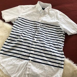 J.crew washed shirt short sleeve placed striped S